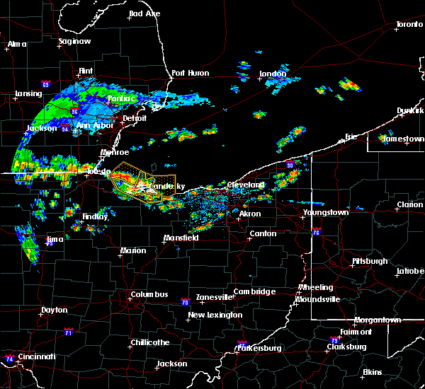 Radar Image for Severe Thunderstorms near Port Clinton, OH at 8/6/2019 12:08 PM EDT