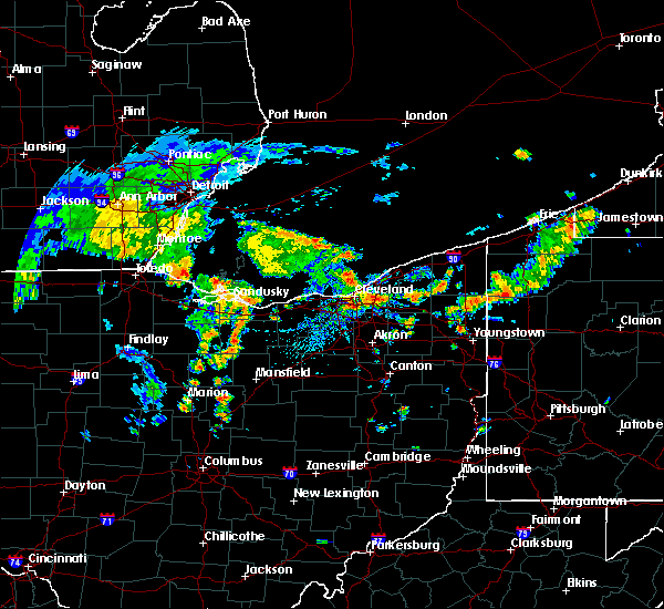 Radar Image for Severe Thunderstorms near Eastlake, OH at 8/6/2019 1:50 PM EDT