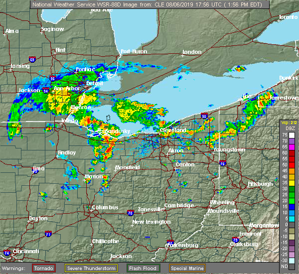 Radar Image for Severe Thunderstorms near Oberlin, OH at 8/6/2019 2:09 PM EDT