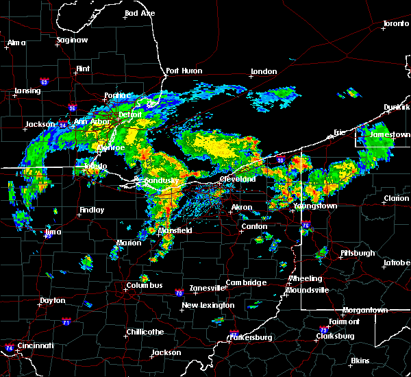 Radar Image for Severe Thunderstorms near Cortland, OH at 8/6/2019 2:47 PM EDT