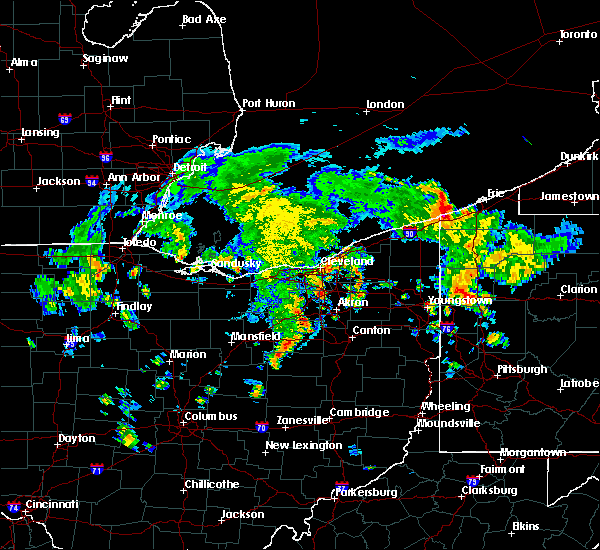 Radar Image for Severe Thunderstorms near Broadview Heights, OH at 8/6/2019 3:40 PM EDT