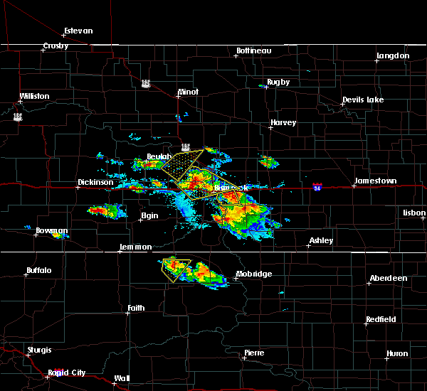 Radar Image for Severe Thunderstorms near Harmon, ND at 8/6/2019 4:15 PM CDT