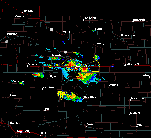Radar Image for Severe Thunderstorms near Harmon, ND at 8/6/2019 4:23 PM CDT