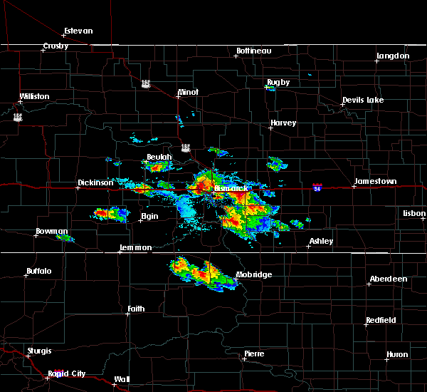 Radar Image for Severe Thunderstorms near Harmon, ND at 8/6/2019 4:31 PM CDT