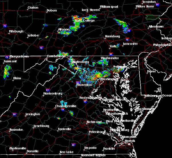 Radar Image for Severe Thunderstorms near Cloverly, MD at 8/6/2019 7:25 PM EDT