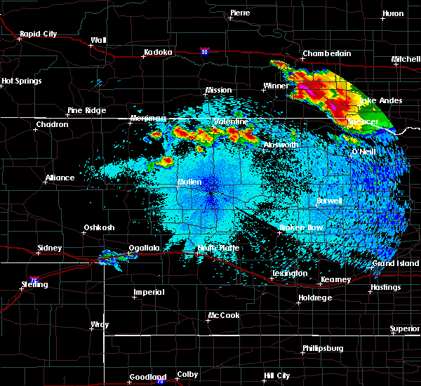 Radar Image for Severe Thunderstorms near Ainsworth, NE at 8/6/2019 10:24 PM CDT