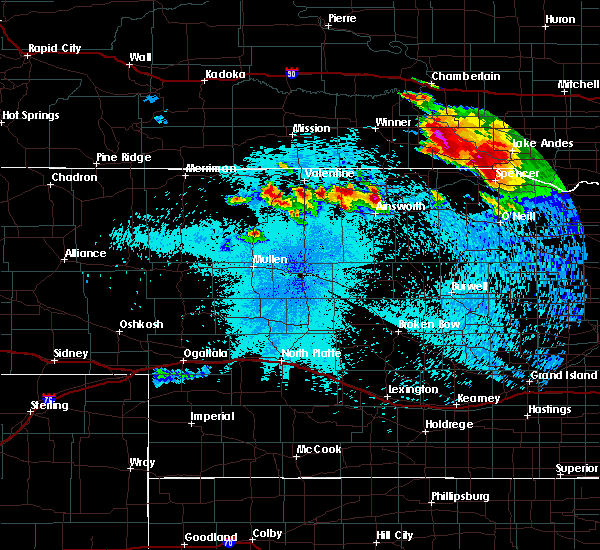 Radar Image for Severe Thunderstorms near St. Charles, SD at 8/6/2019 10:36 PM CDT