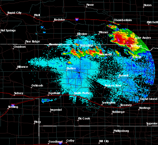 Radar Image for Severe Thunderstorms near Ainsworth, NE at 8/6/2019 10:43 PM CDT