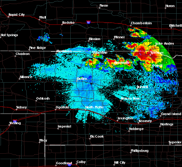 Radar Image for Severe Thunderstorms near St. Charles, SD at 8/6/2019 11:06 PM CDT