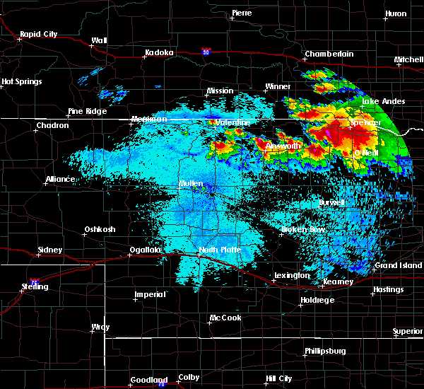 Radar Image for Severe Thunderstorms near St. Charles, SD at 8/6/2019 11:14 PM CDT