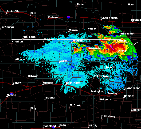 Radar Image for Severe Thunderstorms near Atkinson, NE at 8/6/2019 11:28 PM CDT