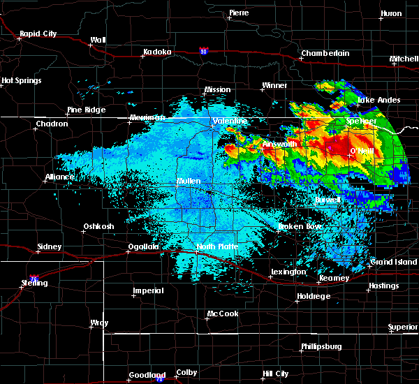 Radar Image for Severe Thunderstorms near Atkinson, NE at 8/6/2019 11:37 PM CDT