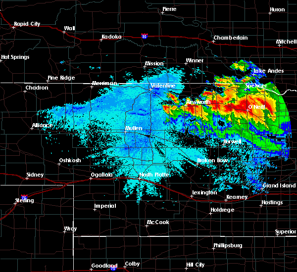 Radar Image for Severe Thunderstorms near Atkinson, NE at 8/6/2019 11:48 PM CDT