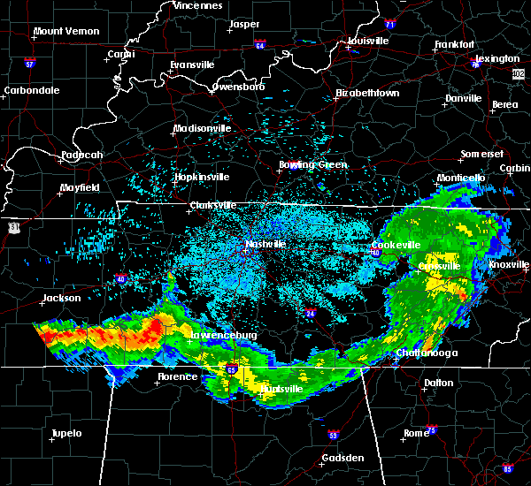 Radar Image for Severe Thunderstorms near Clifton, TN at 8/7/2019 12:05 AM CDT