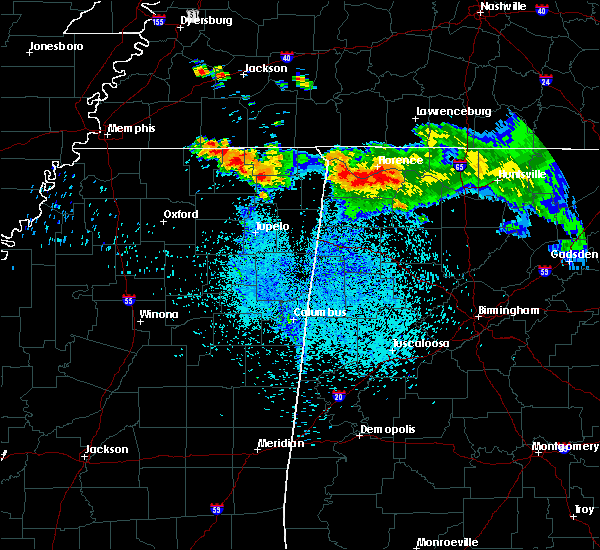 Radar Image for Severe Thunderstorms near Russellville, AL at 8/7/2019 1:35 AM CDT
