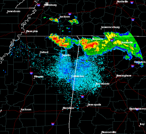 Radar Image for Severe Thunderstorms near Russellville, AL at 8/7/2019 1:51 AM CDT