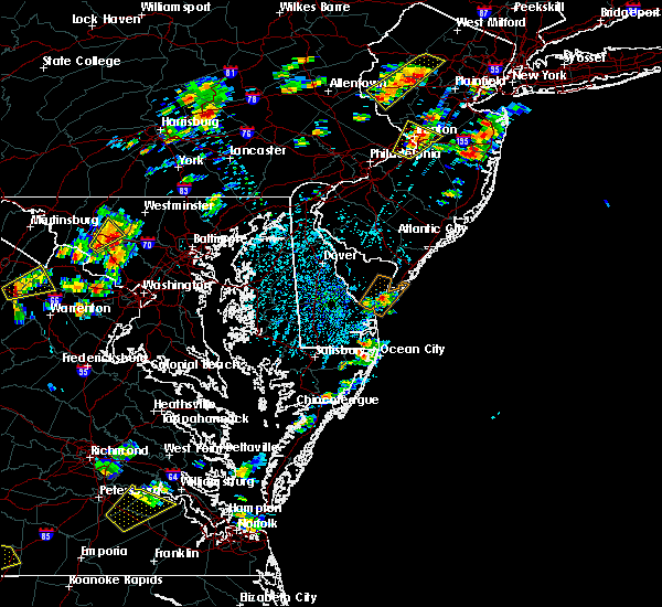 Radar Image for Severe Thunderstorms near Rio Grande, NJ at 8/7/2019 1:41 PM EDT
