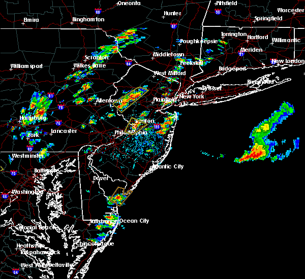 Radar Image for Severe Thunderstorms near Heathcote, NJ at 8/7/2019 1:43 PM EDT