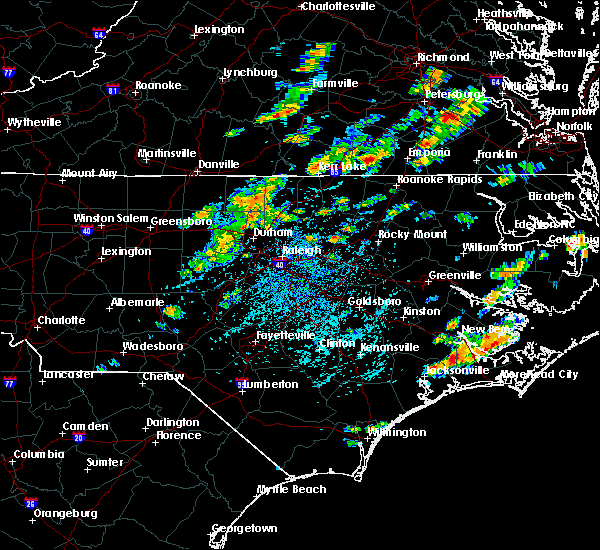 Radar Image for Severe Thunderstorms near Staley, NC at 8/7/2019 1:53 PM EDT