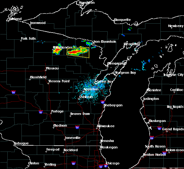 Radar Image for Severe Thunderstorms near Crandon, WI at 8/7/2019 12:56 PM CDT