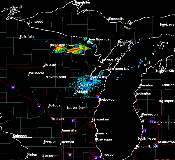 Radar Image for Severe Thunderstorms near Crandon, WI at 8/7/2019 1:14 PM CDT