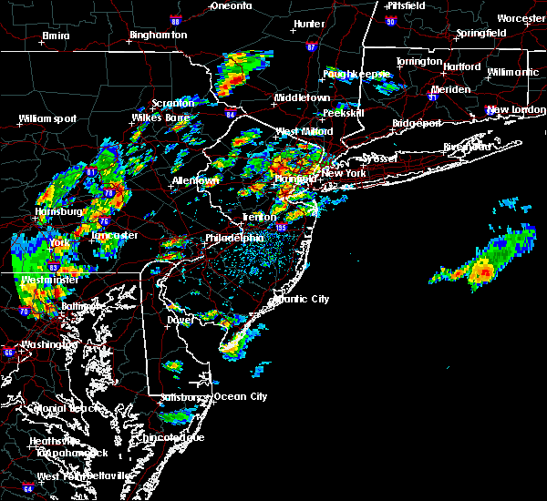Radar Image for Severe Thunderstorms near Englishtown, NJ at 8/7/2019 2:39 PM EDT