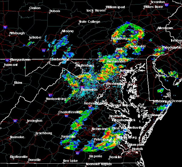 Radar Image for Severe Thunderstorms near Chantilly, VA at 8/7/2019 2:44 PM EDT