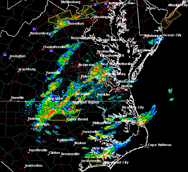 Radar Image for Severe Thunderstorms near Charles City, VA at 8/7/2019 2:45 PM EDT