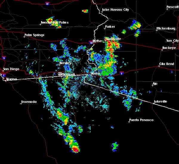 Radar Image for Severe Thunderstorms near Bouse, AZ at 8/7/2019 1:42 PM MST
