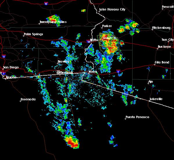 Radar Image for Severe Thunderstorms near Bouse, AZ at 8/7/2019 1:47 PM MST