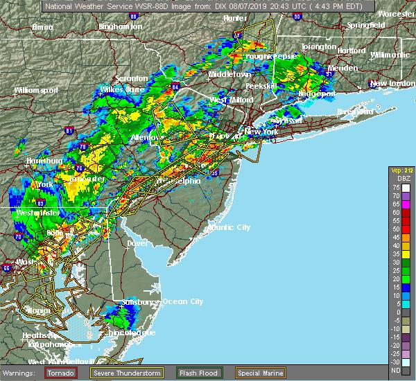 Radar Image for Severe Thunderstorms near Califon, NJ at 8/7/2019 4:49 PM EDT
