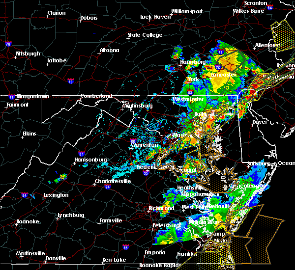 Radar Image for Severe Thunderstorms near Riva, MD at 8/7/2019 4:56 PM EDT
