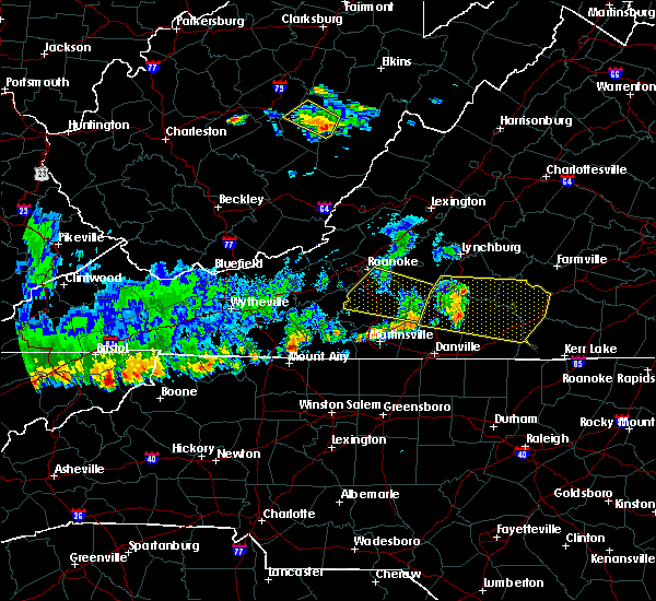 Radar Image for Severe Thunderstorms near Union Hall, VA at 6/21/2015 6:59 PM EDT