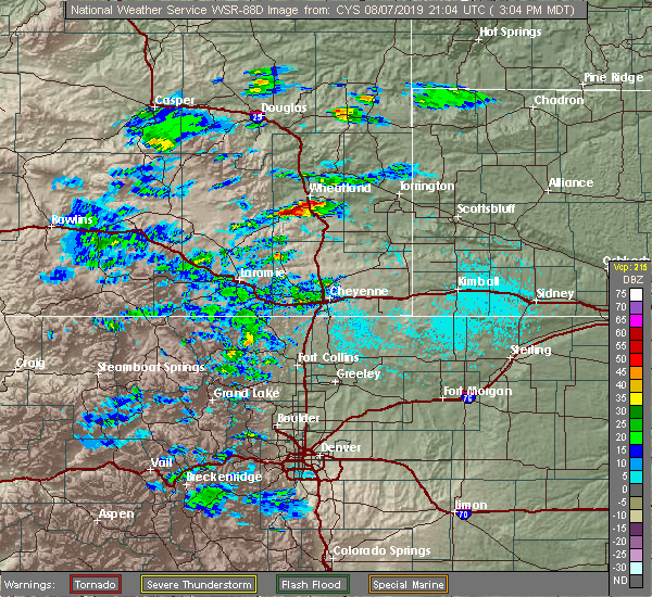Radar Image for Severe Thunderstorms near Slater, WY at 8/7/2019 3:08 PM MDT