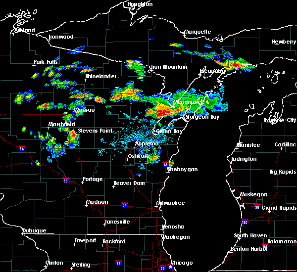 Radar Image for Severe Thunderstorms near Abrams, WI at 8/7/2019 4:09 PM CDT