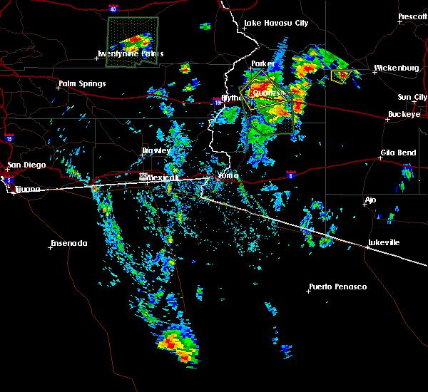 Radar Image for Severe Thunderstorms near Bouse, AZ at 8/7/2019 2:11 PM MST