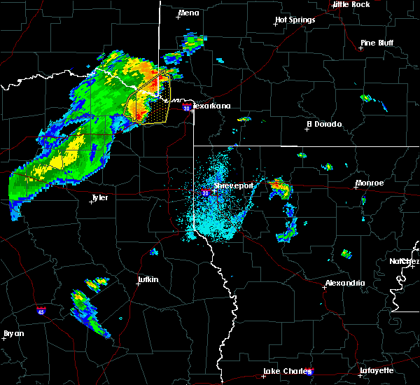 Radar Image for Severe Thunderstorms near Winthrop, AR at 6/21/2015 6:04 PM CDT