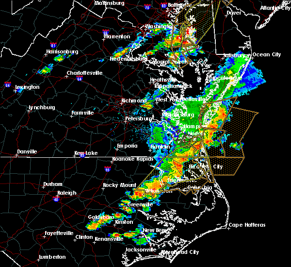Radar Image for Severe Thunderstorms near Virginia Beach, VA at 8/7/2019 5:27 PM EDT