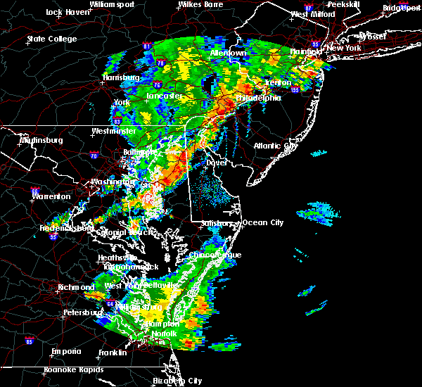 Radar Image for Severe Thunderstorms near Dover, DE at 8/7/2019 5:36 PM EDT