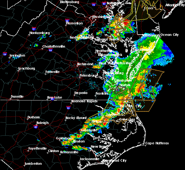 Radar Image for Severe Thunderstorms near Virginia Beach, VA at 8/7/2019 5:48 PM EDT