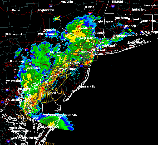 Radar Image for Severe Thunderstorms near Roebling, NJ at 8/7/2019 5:50 PM EDT