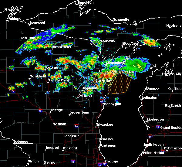 Radar Image for Severe Thunderstorms near Howard, WI at 8/7/2019 4:54 PM CDT