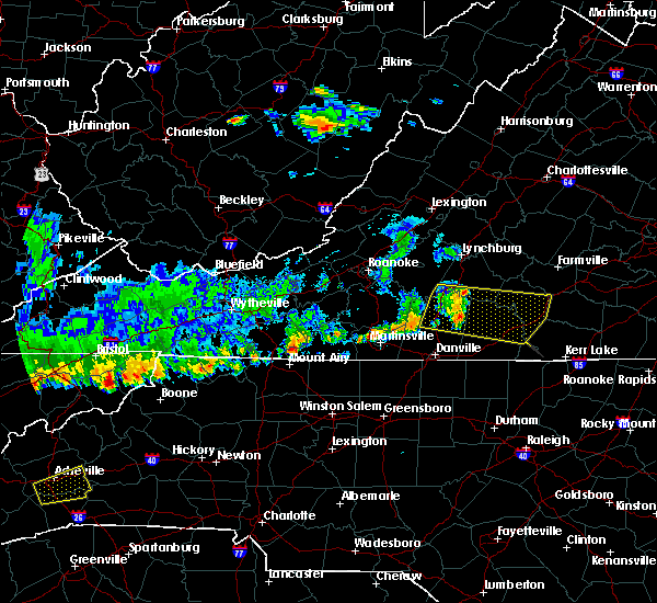 Radar Image for Severe Thunderstorms near Brookneal, VA at 6/21/2015 7:07 PM EDT