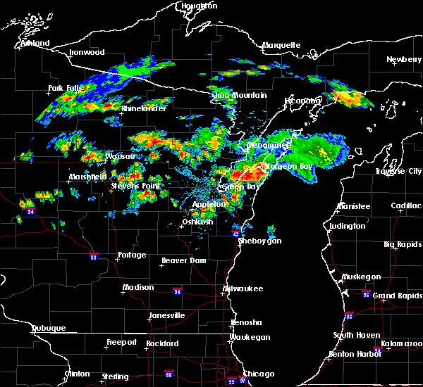 Radar Image for Severe Thunderstorms near Casco, WI at 8/7/2019 5:01 PM CDT