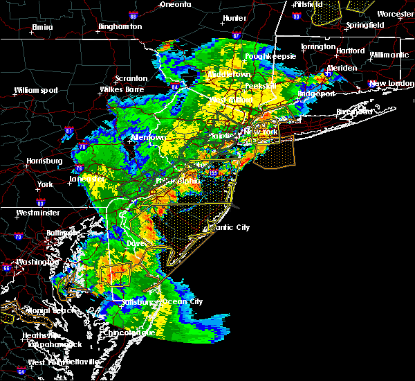 Radar Image for Severe Thunderstorms near Roebling, NJ at 8/7/2019 6:40 PM EDT