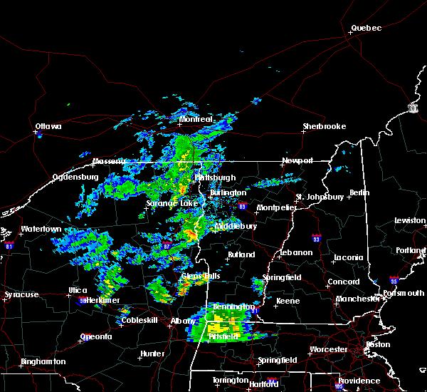Radar Image for Severe Thunderstorms near Hinesburg, VT at 8/7/2019 7:07 PM EDT