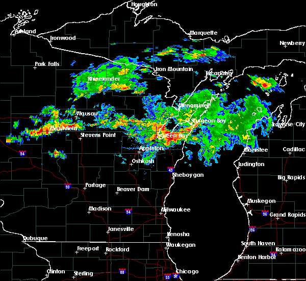 Radar Image for Severe Thunderstorms near Howard, WI at 8/7/2019 6:09 PM CDT