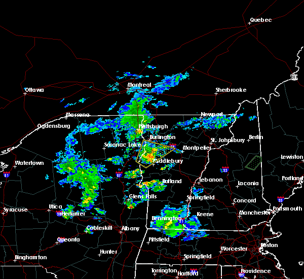 Radar Image for Severe Thunderstorms near Hinesburg, VT at 8/7/2019 7:35 PM EDT