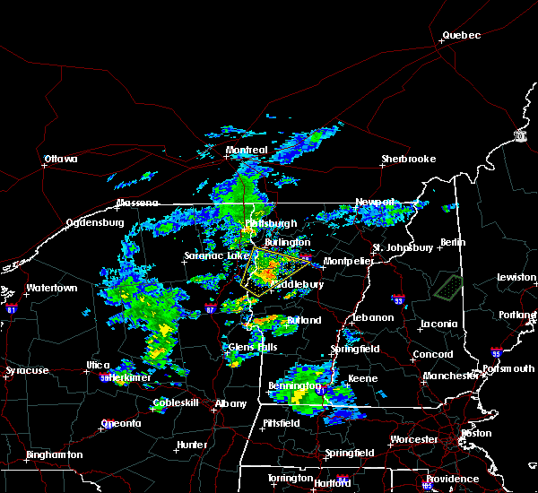Radar Image for Severe Thunderstorms near South Burlington, VT at 8/7/2019 7:35 PM EDT