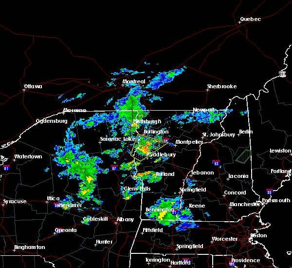 Radar Image for Severe Thunderstorms near Shelburne, VT at 8/7/2019 7:35 PM EDT